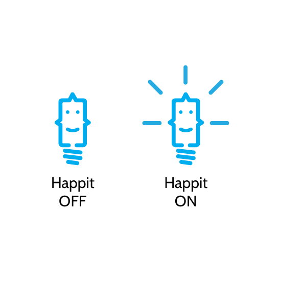 Happit employee training on-off